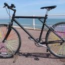 Bicycle Wheel Spoke Art with Drinking Straws.
