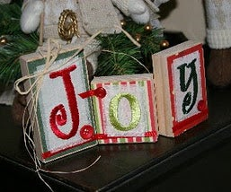 Hinged Wooden Joy Banner
