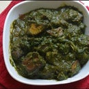 ALOO PALAK ( Potato In Spinach Curry)