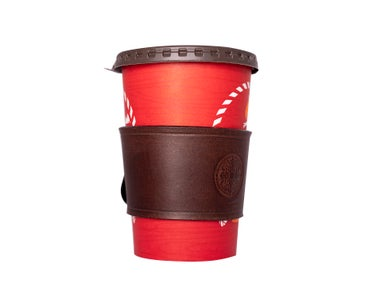 DIY Reusable Cozy for Your Cup Out of Vegetable Tanned Leather