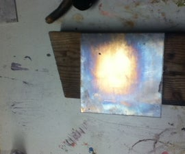 Making Red-Orange-Pink and Rainbow Effect of Copper and Brass With  Chemicals and Propane Including Steel.