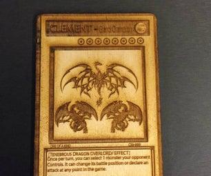 Wooden YU-GI-OH Card (Or Any Card You Like)