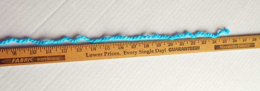 Measure & Cut Warp Yarn Pieces