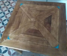 Small Wooden Dining Table With Fluorescent Corners