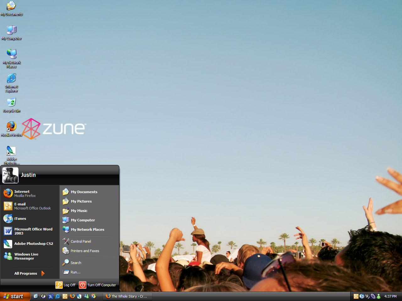 Picture of  Zune Desktop Theme for Windows!