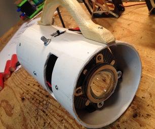 100W LED Flashlight in a PVC Pipe