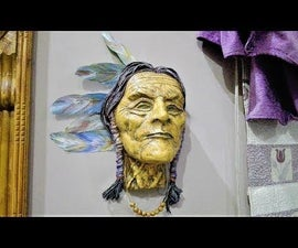 DIY Native American Sculpture  Wall Hanging Mask