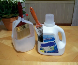 Preserve Quality Paintbushes Forever. Drip-dry. Built-in handle. Easy clean-up.