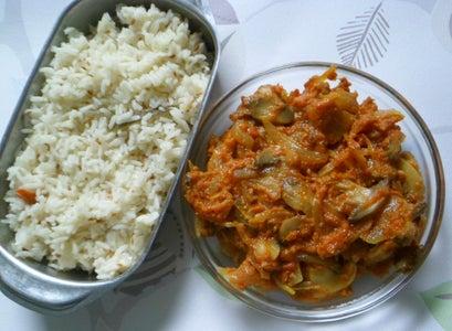 Mushroom Do Pyaza Curry