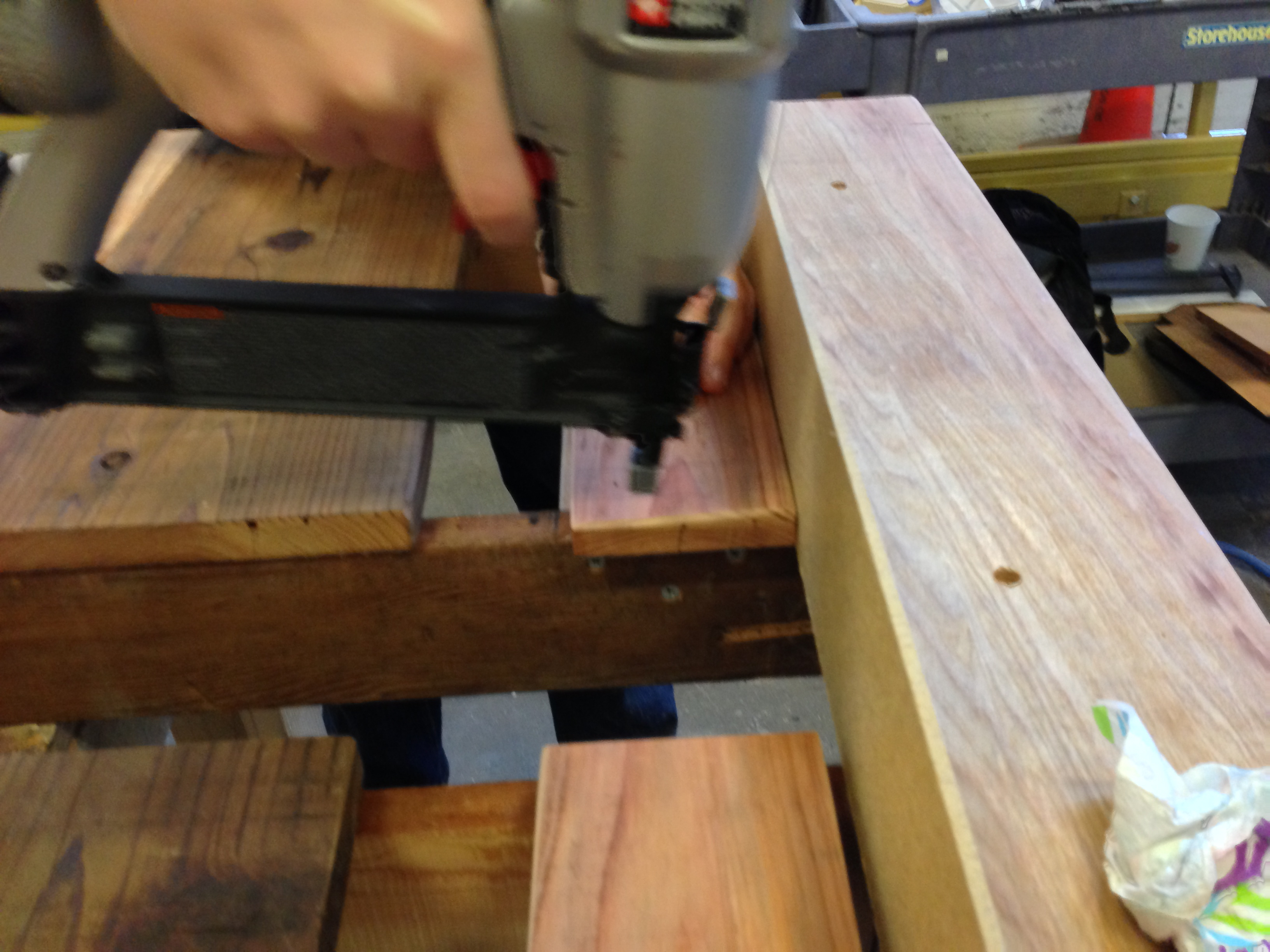 Picture of Attach Tabletop Slats to Inner Aprons