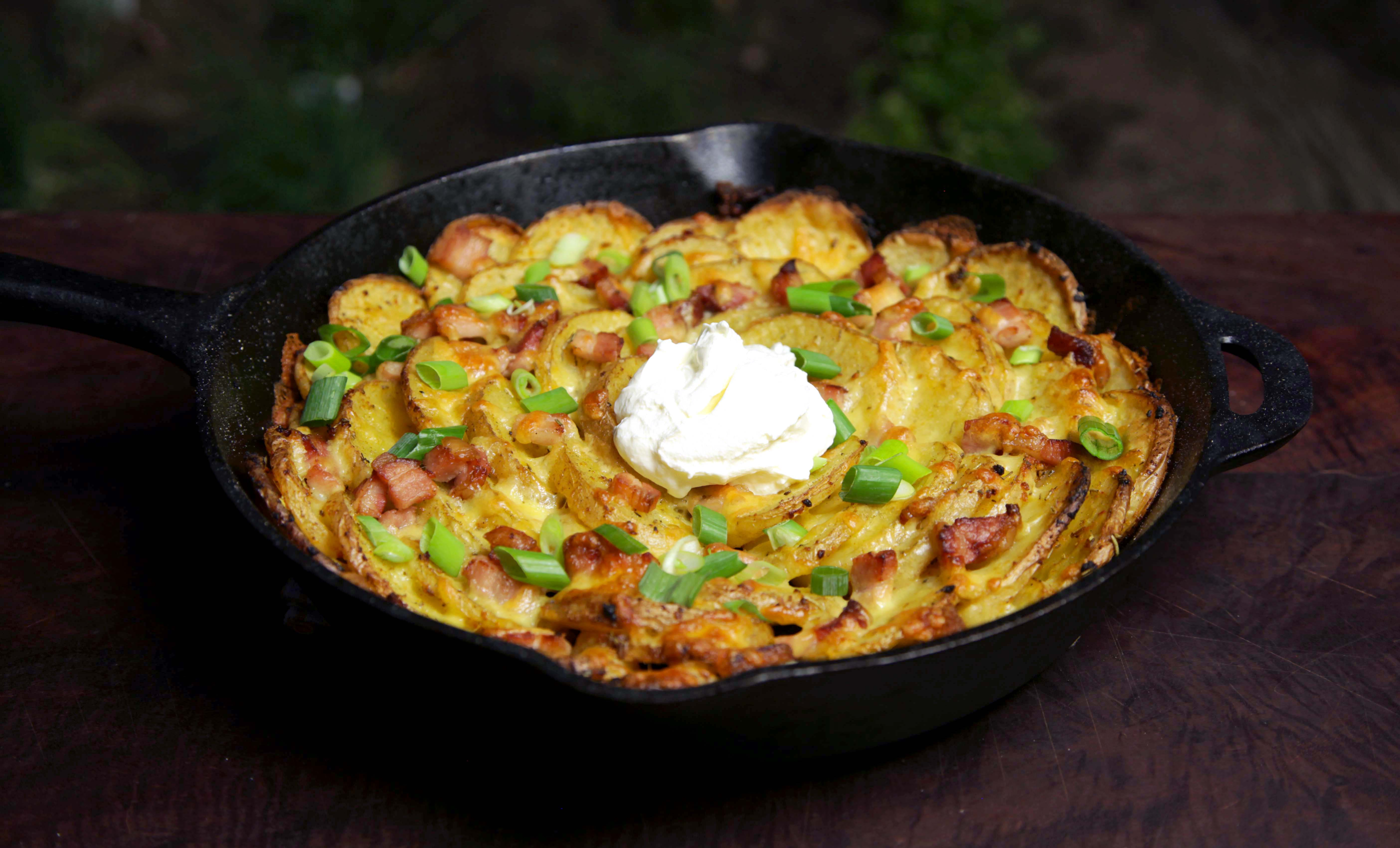 Picture of How to Cook Cast Iron Roasted Spiral Potatoes
