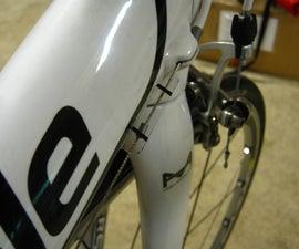 Road bike shift indicator using scrap packaging