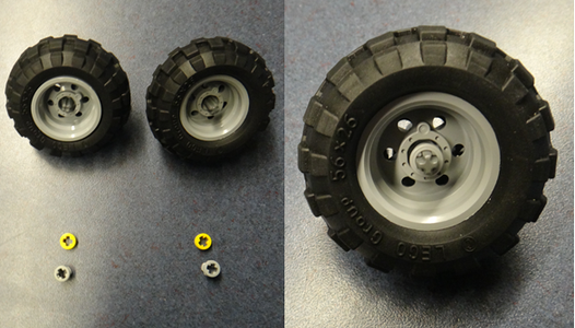Fitting the Wheel Axle to the Tire Part 2