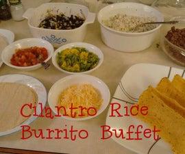 Cilantro Rice Burrito Buffet: DIY Chipotle's