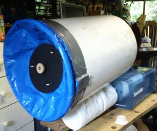 Large Vortex Cannon With Fitted Smoke Machine