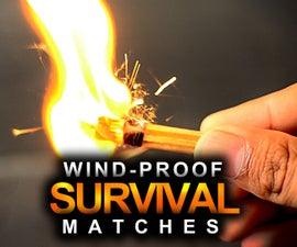 Wind proof survival matches