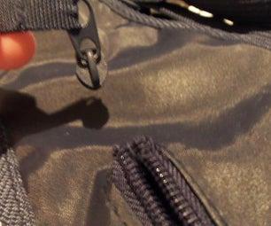 Reseat a detached zipper