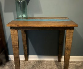 Faux Live Edge Epoxy River Table for Under $100