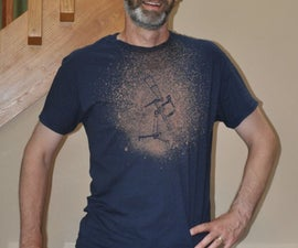 Bleach Patterned T-shirt With Vinyl Cut Stencil