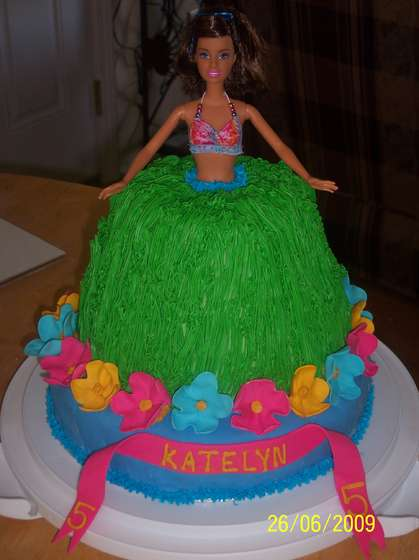 Picture of Hula Barbie Cake