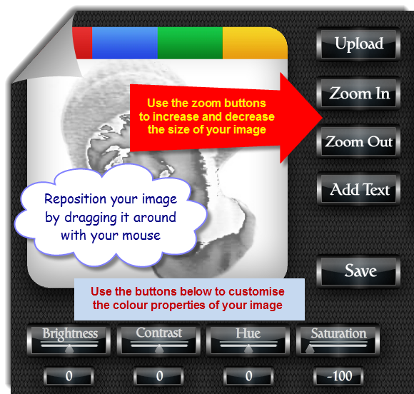 Picture of Position Your Image. Google+ Profile Image Avatar Maker - Halloween Style
