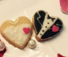 Personalized Wedding Favours-Bride n Groom cookies