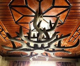 Custom Wooden Deer Antler Chandelier