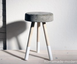 HomeMade Modern DIY $5 Bucket Stool