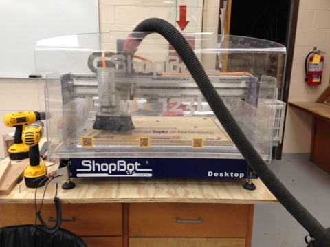 Picture of Shopbot: Cutting the Slots