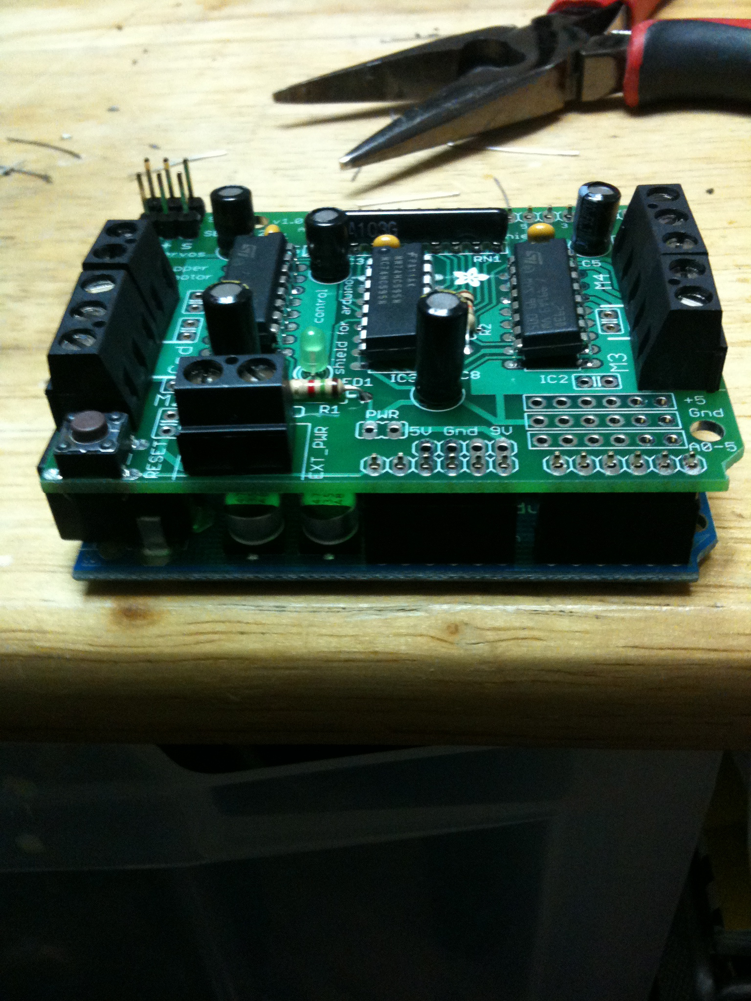 Picture of Construct the Motor Shield