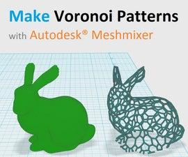 Make 3D printable Voronoi Patterns with Autodesk® Meshmixer