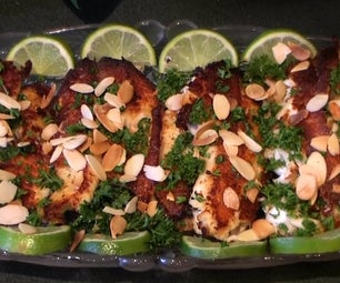 Tilapia Fillets With Grilled Almonds