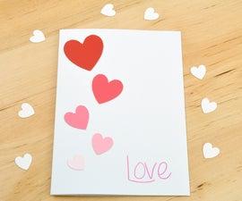 Ombre Paint Chip Valentine