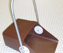Large Upright Dustpan Aids Lawn Cleanup