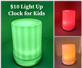 Green Means Go!!!  $10 Light Up Clock for Kids