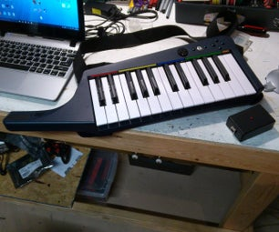 Wireless MIDI for Rock Band Keytar