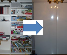 Sliding Doors for large shelving units