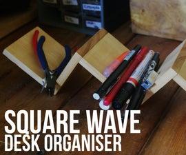 Square Wave Desk Organiser
