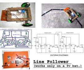 Simplest Line Follower Robot