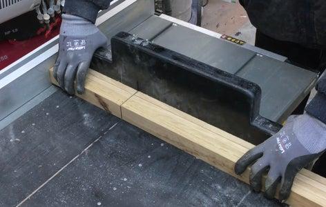 Cutting the Wood.