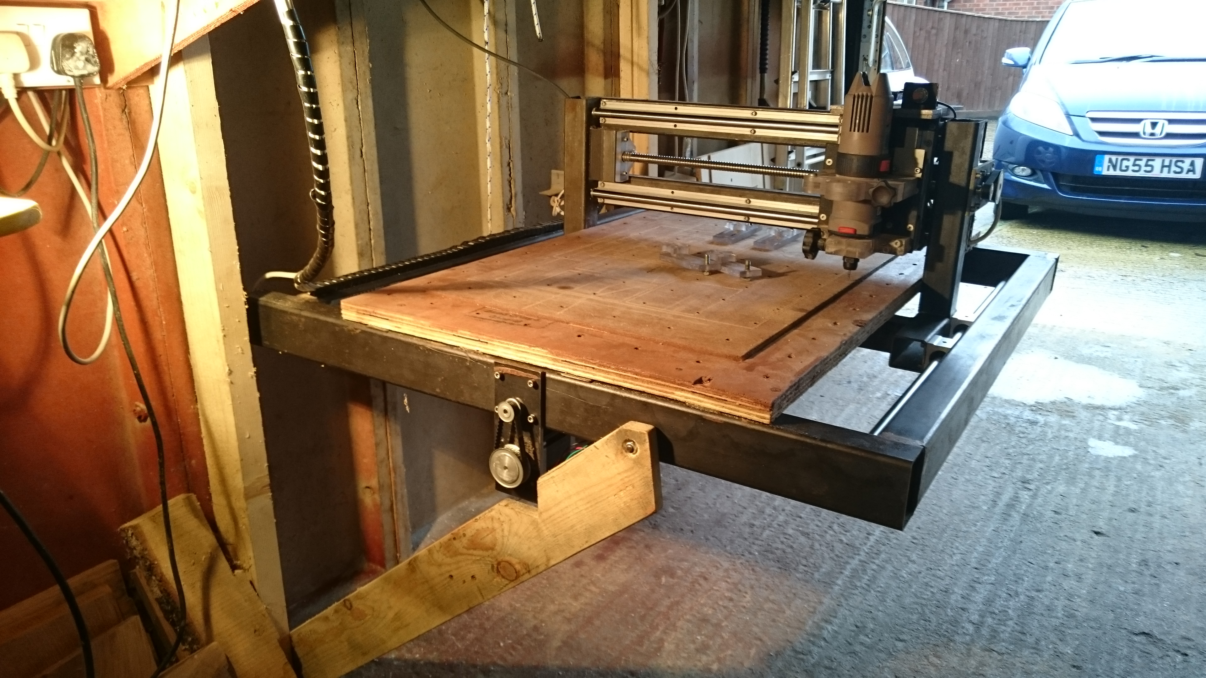 Picture of Build a Large Space Saving CNC Router for Under £600!