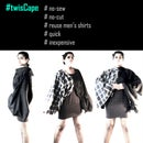 #twisCape : Inexpensive No-sew Womenswear From Men's Shirts DIY