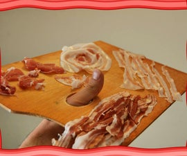 Reproductions of famous paintings made with Bacon!