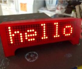 LED Marquee Scroller Wemos D1 Mini ESP8266