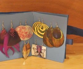 Jewelry holders DIY- a chic booklet earring holder DIY