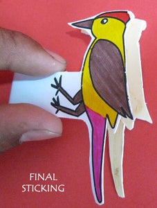 Papercraft Woodpecker Toy !