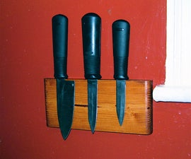 Wall mounted magnetic knife block