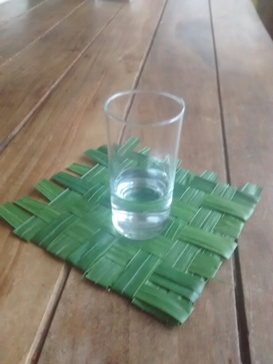 Picture of How to Make a Cup Coaster of Palm Leaves