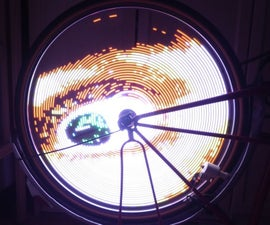 The Simplest POV (ARDUINO) Bike Spoke LED
