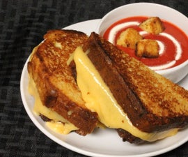CAKE Grilled Cheese & tomato soup